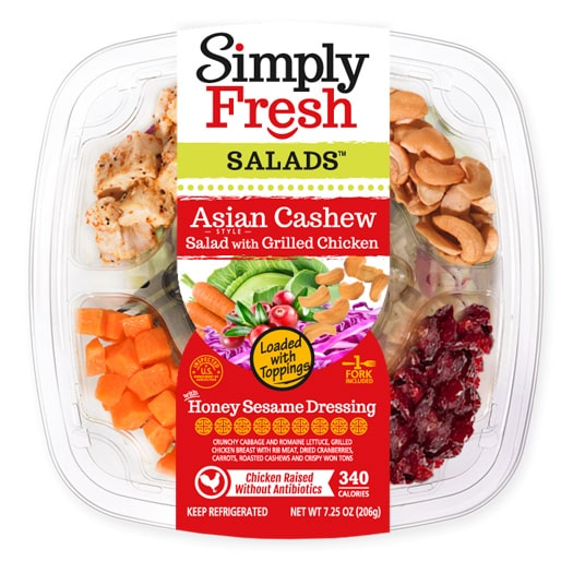 Asian Style Cashew Salad with Grilled Chicken