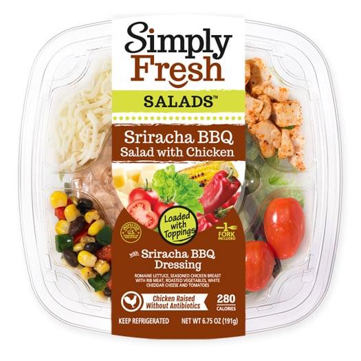 Sriracha BBQ Salad with Chicken