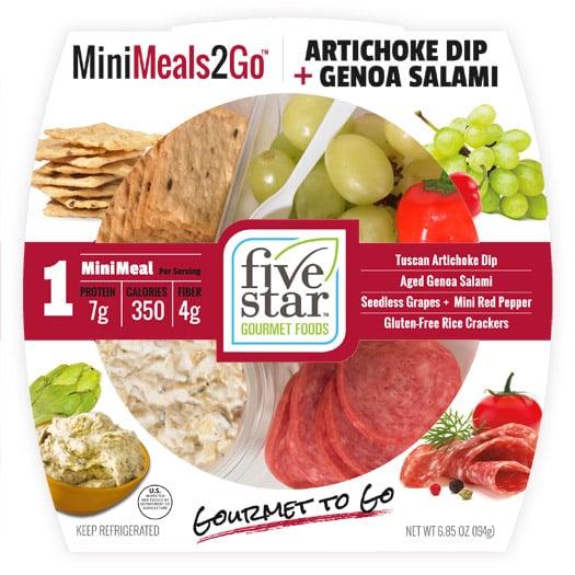 MiniMeals2Go™ Artichoke Dip + Genoa Salami