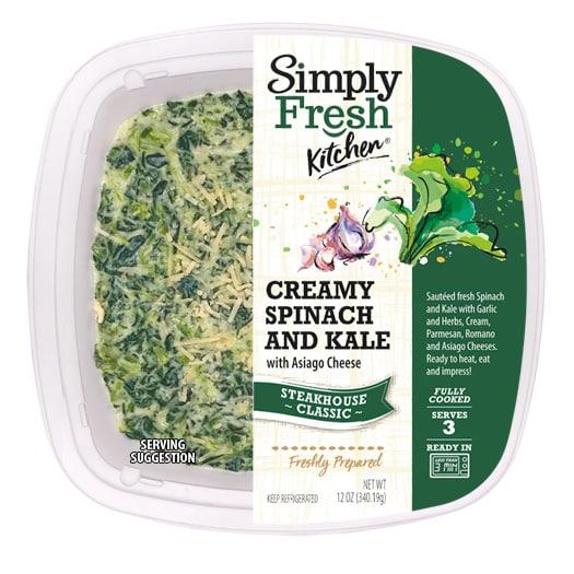 Creamy Spinach & Kale w/Asiago Cheese