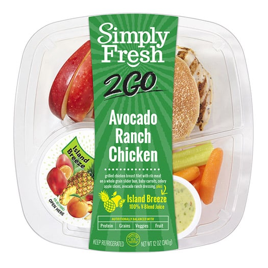 SF2Go™ Avocado Ranch Chicken Meal + Juice